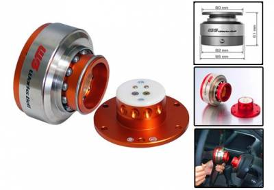 Interior / Safety - Steering Hubs, Hub Adapters, Quick Release - Works Bell - Works Bell Rapfix II (Orange)