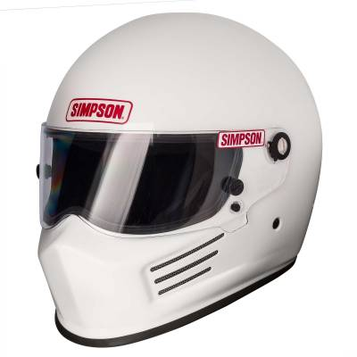 SA2015 Helmets  - Composite Helmets - Simpson Performance Products - Simpson BANDIT - SNELL 2015 White Medium