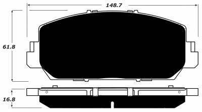 Porterfield - Porterfield R4-S AP1697 Brake Pad Front Honda Accord Sport