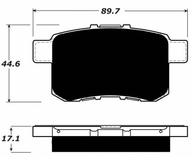 Porterfield - Porterfield R4 AP1451 Brake Pad Front Rear Accord Sport