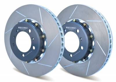 Braking - Brake Rotors Two-piece - Girodisc - Girodisc A1-032 Porsche 997.1 997.2 350mm Front Rotor Upgrade