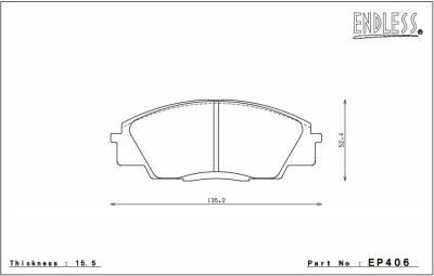 Honda - S2000 - Endless  - Endless CC-RG EP406 / EP451 Honda S2000 Front/Rear Brake Pads