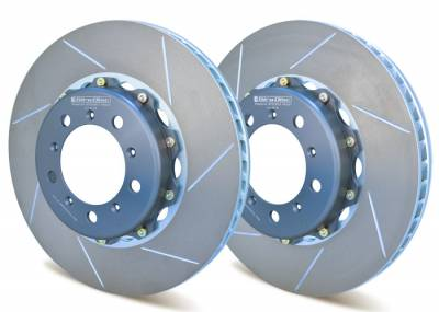 Braking - Brake Rotors Two-piece - Girodisc - Girodisc A1-019 Front 350mm 2-piece Rotor for Porsche 997.1 GT2/GT3 NON-PCCB