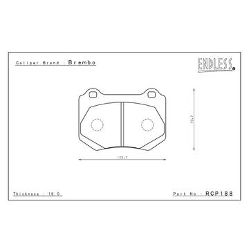 Lexus - IS-F - Endless  - Endless MX72 RCP188 Brake Pads Rear STi 2018+