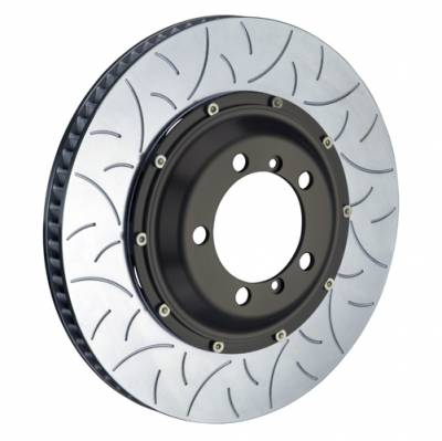 Brake Rotors Two-piece - Replacement Rings - Brembo  - Brembo Type III Replacement Ring (380x34) Porsche 981 Cayman GT4 / 991 GT3 + 991 Turbo  Left Side