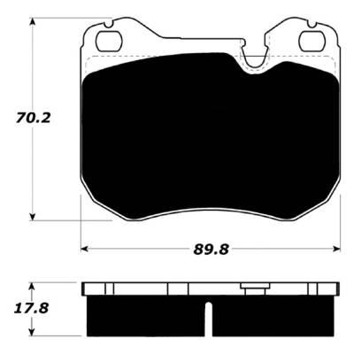 Brake Pads - Autocross Pads - Porterfield - Porterfield R4-S AP251 Brake Pad Front Porsche 944 (non-Turbo)
