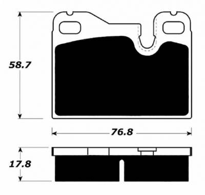 Porterfield - Porterfield R4 AP252 Brake Pad Rear Porsche 944 (non-Turbo)