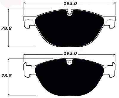 Brake Pads - Autocross Pads - Porterfield - Porterfield R4-S AP1448 Brake Pad Front Jaguar XKR