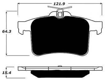 Porterfield - Porterfield R4-S AP1449 Brake Pad Rear Jaguar XKR