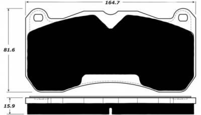 Porterfield - Porterfield R4-S AP1666 Brake Pad 13-14 Mustang Shelby GT500 5.8L (Front)