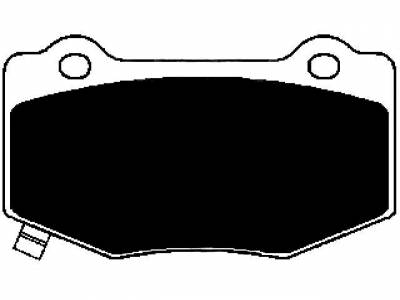 Raybestos - Raybestos RC1718 ST-47 Brake Pads Chevrolet Corvette Z06/GS C7 + SS 1lE (Iron Rotors) Rear