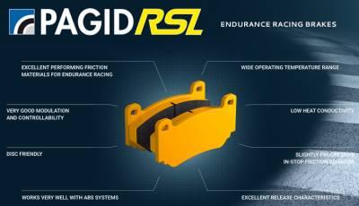 Pagid Racing - Pagid Racing RSL 29 Endurance (4918-29) Porsche 981 boxster spyder & 991 base rear
