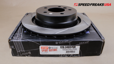 Brake Rotors One-piece  - One-Piece Front Rotors - StopTech - StopTech Sport Slotted Rotor Rear Right E36 BMW M3 (95-99)