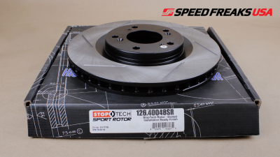 Brake Rotors One-piece  - One-Piece Front Rotors - StopTech - StopTech Sport Slotted Rotor Front Right Honda S2000