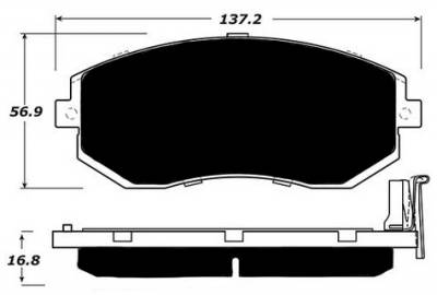 Raybestos - Raybestos ST-43 RC1539 Brake Pads