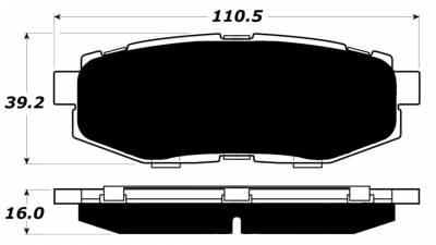 Raybestos ST-43 R1124.16 Brake Pads