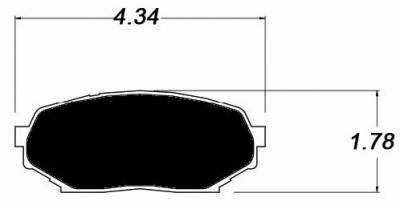 Raybestos ST-43 R525.14 Brake Pads Miata 1.6L (Front)