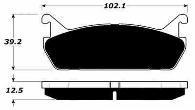 Raybestos - Raybestos ST-43 RC458 Brake Pads Miata 1.6L (Rear)