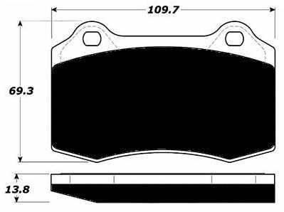 Porterfield - Porterfield R4-S AP592.15 Brake Pad