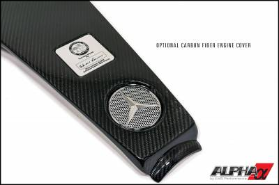 Featured Vehicles - Mercedes  - AMS  - ALPHA Performance 5.5L Biturbo Carbon Fiber Engine Cover For Use With Induction Kit