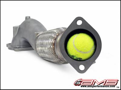 Featured Vehicles - Mitsubishi - AMS  - AMS EVO X Widemouth Downpipe with Turbo Outlet Pipe