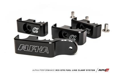 ALPHA Performance R35 GT-R Fuel Line Clamp System