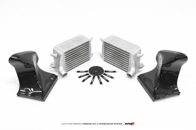 Featured Vehicles - Porsche - AMS  - ALPHA Porsche 991.2 Intercooler Kit With Carbon Fiber Shrouds