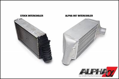 AMS  - ALPHA Porsche 997.2 Intercooler System For Stock Framed Turbos