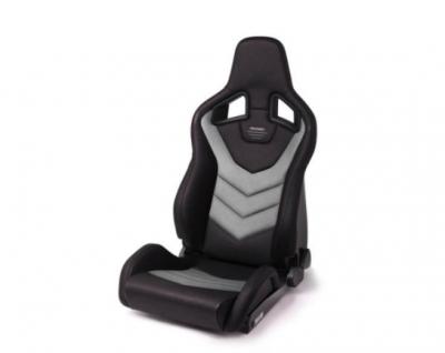 Interior / Safety - Racing Seats - Recaro  - RECARO SPORTSTER GT WITH SUB-HOLE (LEFT SIDE) - VINYL BLACK CLOUD GRAY SUEDE