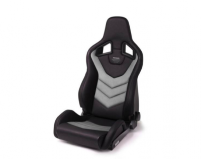 Interior / Safety - Racing Seats - Recaro  - RECARO SPORTSTER GT WITH SUB-HOLE (RIGHT SIDE) - VINYL BLACK CLOUD GRAY SUEDE