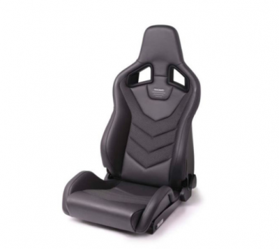 RECARO SPORTSTER GT WITH SUB-HOLE (LEFT SIDE) - LEATHER BLACK CARBON WEAVE