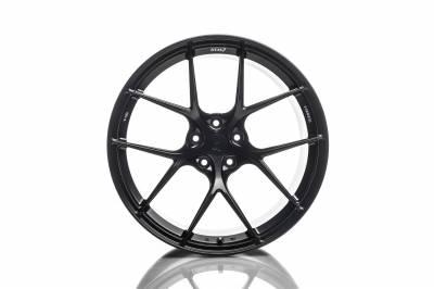 Wheels - 5x114.3 Wheels - Titan7 - Titan7 T-S5 FORGED 5 SPOKE WHEEL 18X9 +28 (5x114.3) - FRONT, MACHINE BLACK