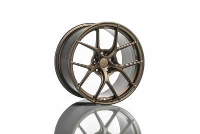 Wheels - 5x114.3 Wheels - Titan7 - Titan7 T-S5 FORGED 5 SPOKE WHEEL 18X9.5 +40 (5x114.3) - SQUARE, TECHNA BRONZE