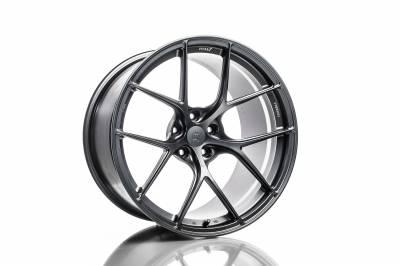 Wheels - 5x114.3 Wheels - Titan7 - Titan7 T-S5 FORGED 5 SPOKE WHEEL 18X10.7 +38 (5x112) - SQUARE, SATIN TITANIUM