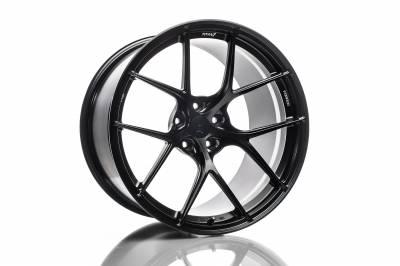 Wheels - 5x114.3 Wheels - Titan7 - Titan7 T-S5 FORGED 5 SPOKE WHEEL 18X10.7 +38 (5x112) - SQUARE, MACHINE BLACK
