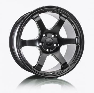 Wheels - 5x114.3 Wheels - Titan7 - Titan7 T-D6 FORGED 6 SPOKE WHEEL 20x10 +30 (5x114.3) - FRONT, MACHINE BLACK