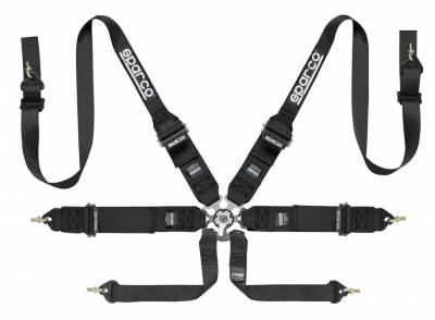 "Safety Harness - Hans Compatible   - Sparco  - Sparco 6 PT HANS - 3""/2"" STEEL"