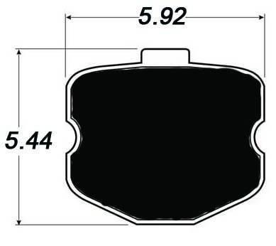 Raybestos ST-43 R1185F Brake Pads Corvette C6 Z06 & Grand Sport (Front - 12 padlets)