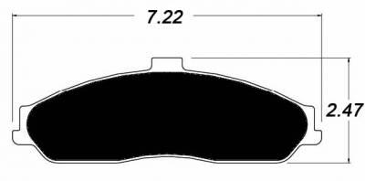 Raybestos ST-43 R731.15 Brake Pads Front (C5 & C6 Base)