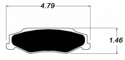 Raybestos ST-43 R732.16 Brake Pads Rear (C5 & C6 Base)