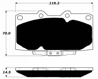 Porterfield - Porterfield R4-S AP460 Brake Pad