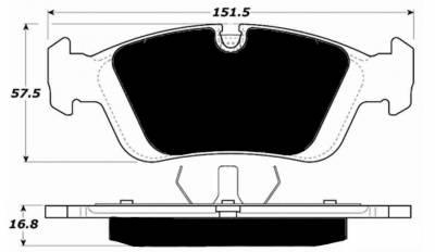 Porterfield - Porterfield R4-S AP558 Brake Pad Front BMW E36 (non-M)