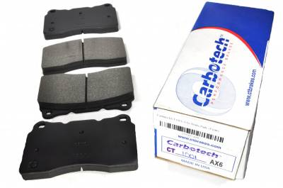Brake Pads - Autocross Pads - Carbotech Performance Brakes - Carbotech Performance Brakes, CT1001-AX6 Brembo Caliper, STi, Corvette C7 Front Brake Pads