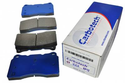Brake Pads - Racing / Track Day Pads - Carbotech Performance Brakes - Carbotech Performance Brakes, CT1001-XP12 Brembo Caliper, STi, Corvette C7 Front Brake Pads