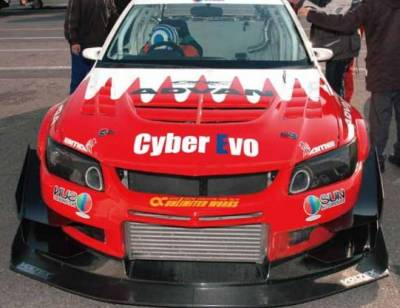 Featured Vehicles - Mitsubishi - Voltex - Voltex EVO CT9A Front Bumper- Cyber Edition
