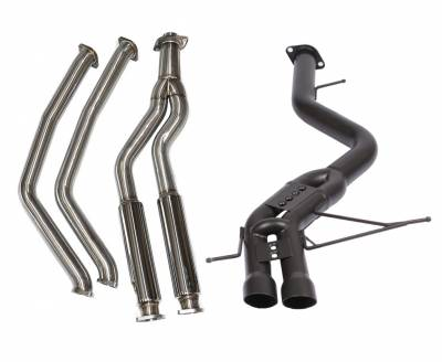 Exhaust - Full Exhaust Systems - Berk Technology  - Berk 135i Downpipe Back Race Exhaust Ceramic Coated (BT1801-SMP-HPC)