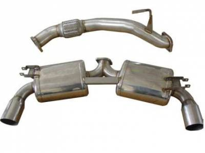 "Exhaust - Catback Systems - Berk Technology  - Berk 90-99 MR2 Dual 3"" Exhaust (BT1068)"