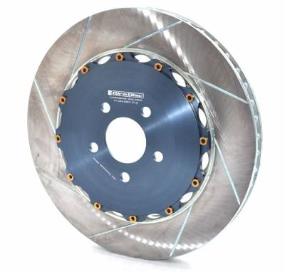 Braking - Brake Rotors Two-piece - Girodisc - Girodisc A1-034-380 Lamborghini Gallardo 2009-2012 380mm Upgrade Front 2pc Rotors