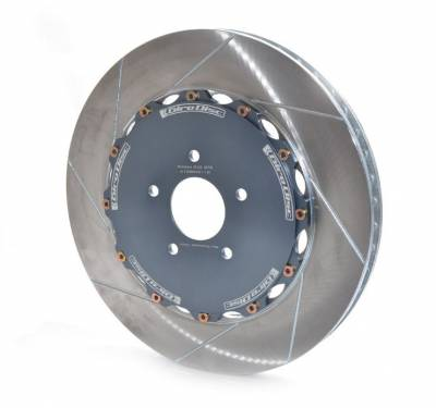 Brake Rotors Two-piece - Two-Piece Front Rotors - Girodisc - Girodisc A1-084 Nissan GTR 395mm Front 2pc Rotors