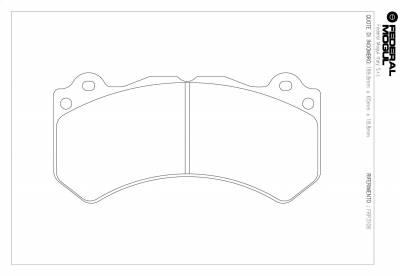 Nissan - GT-R - Ferodo  - FerodoDS2500 FRP3106H Nissan GT-R Front Brake Pads